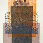 places 2007, Holz- und Linolschnitt über Phototransfer, 78,5 x 54,5 cm