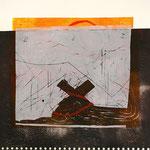 ohne Titel, 2004 Kombination von bis zu 5 Platten im Hochdruckverfahren, Papierformat 40 x 40 cm