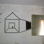 Geister vertreiben 2016, Kartonschnitt, Raum 2, Gesamtansicht 100 x 150 cm