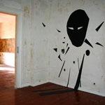 Geister vertreiben 2016, Kartonschnitt, Raum 2, Gesamtansicht ca. 200 x 130 cm