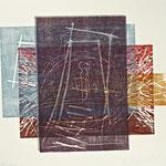 places 2007,  Holz- und Linolschnitt von 5 Platten, 54,5 x 78,5 cm