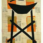 was mir wert ist 2001, Collage 78 x 53 cm