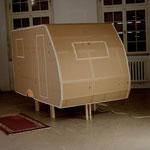 eine Sehnsucht stillen 2008, Installation, Ansicht Caravan