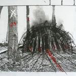 Kreidezeichnung auf Photocopy, 21 x 29,7 cm