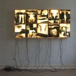 dark lights 2004 Lichtinstallation 200 x 100 x 15 cm, Ausstellungsansicht
