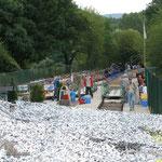 Start der Draisine in Staudenheim