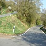 2 km Steigung bei Laurenburg