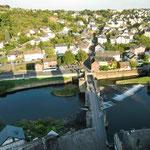 Blick vom Turm auf Runkel und Schadeck