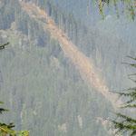 Felssturz bei Partschins - live erlebt  - über 1200m sind abgerutscht