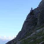 ... der Einstieg - schwierig - nun heißt es ca. 4h klettern