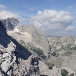 Blick auf die Zugspitze - Höllental / Gletscher