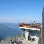 der Start auf dem Nebelhorn