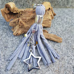 Silbergrau Sterne geflochten mit Fotoanhänger