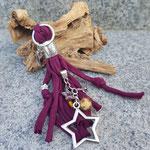 Bordeaux Sterne mit Fotoanhänger