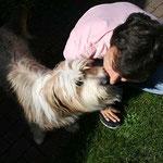 Kiwi gibt Küsschen