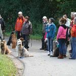 18. September: Wir organisieren eine Wällerwanderung durch den Dänischen Wohld. Acht Wäller und ihre Besitzer nehmen teil.