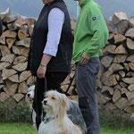 Mallou und Murmel bei der Junghundebegutachtung, © Hjordis Lübker