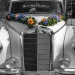 Hochzeitsschmuck für Auto Höchberg, Würzburg ,Kist, Eisingen, Hettstadt, Waldbrunn, Waldbüttelbrunn, Altertheim, Unterfranken