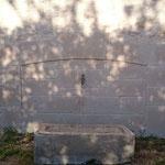 Fontaine imitation pierre finition jointoyée