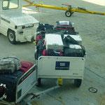 Flughafen Miami unsere Koffer