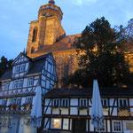 Abendstimmung inHomberg/Efze mit Reformationskirche