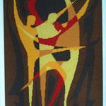 Handarbeit: Die Tänzer (Picasso) Gobelin v. B.Knoll