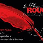 carte de visite La Plume Rouge