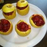 Pomme farcie aux fruits rouges