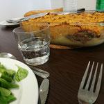 Parmentier de canard et salade de mâche