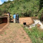 Wasserfassung und Mühlenkanal in Kindimba