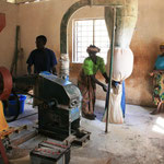 Mühlenbetrieb in Kindimba