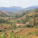 Ein Tal von Kindimba mit einem der vier Teildörfer