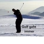 Golf ist ein ganz Jahressport - wusste ich 2012 noch nicht