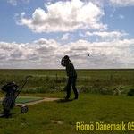 mit dem WoMo 2015 in Dänemark - die Schläger sind immer dabei