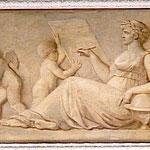Scène (allégorie, femme, assis, globe, astronomie, ?, écriture, putti) Château de Fontainebleau - L. LUSSIGNY