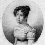 Portrait d'une jeune femme (Médaillon) - L. LUSSIGNY