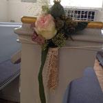Bankschmuck Hochzeit