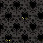 """Patterndesign: """"Cats in the Dark"""" von Nina Rode. Als Plakat erhältlich bei Artflakes"""