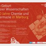 Plakat Symposium Chemie und Pharmazie Phillips-Universität Marburg · Gestaltung: Hans Zierenberg