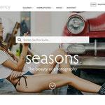 seasons.agency Logo/Corporate Design auf Website · Gestaltung: Hans Zierenberg