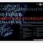 Plakatentwurf Symposium Chemie und Pharmazie Phillips-Universität Marburg · Gestaltung: Hans Zierenberg
