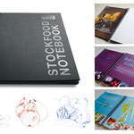 """StockFood """"Notebook"""" · Veröffentlicht im In- und Ausland · Gestaltung und Illustration: Hans Zierenberg"""