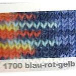 Flotte Socke 6trådig, blå-röd-gul