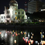 Toro Nagashi Ceremony as a Memorial Service for Atomic Bomb Victims in Hiroshima