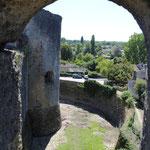 Château de Villandraut, vue des douves