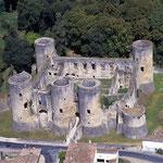 Château de Villandraut, vue aérienne