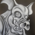 By Air Brush on Canvas bord. 41cm x 51cm 4500円