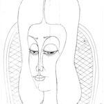 Mädchenkopf mit langem Haar