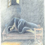 Schlafender Mann  1978