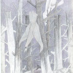 Toter Wald mit Vögel  1981